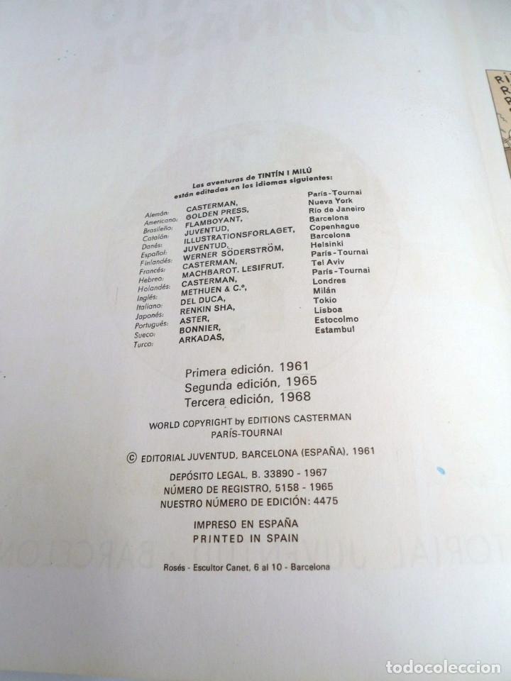 Cómics: TINTIN EL ASUNTO TORNASOL - Ed. JUVENTUD 1968 - TERCERA EDICION - BUEN ESTADO - Foto 9 - 134246622