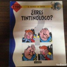 Comics : RARO COMIC TBO TINTIN ¿ERES TINTINOLOGO? EL MUNDO DE TINTIN ED JUVENTUD. Lote 134419290