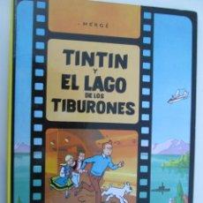 Cómics: HERGÉ - TINTIN Y EL LAGO DE LOS TIBURONES - EDITORIAL JUVENTUD. Lote 135158306