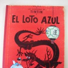 Cómics: TINTIN 3 ª EDICIÓN (1958, JUVENTUD) 4 · 1970 EL LOTO AZUL. Lote 135325986