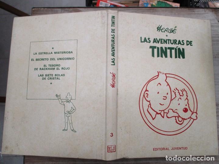 Cómics: HERGE - LAS AVENTURAS DE TINTIN - TOMO 3 - EDICION DE LUJO - EDITORIAL JUVENTUD - Foto 2 - 135811814