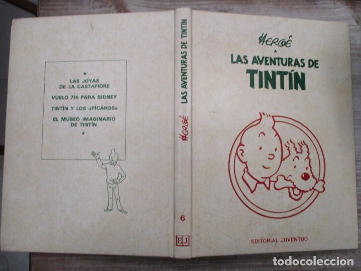 Cómics: HERGE - LAS AVENTURAS DE TINTIN - TOMO 6 - EDICION DE LUJO - EDITORIAL JUVENTUD - Foto 2 - 135812058