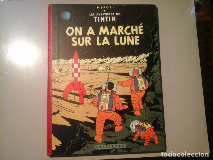 HERGÉ. TINTIN. ON A MARCHÉ SUR LA LUNE. EDICIÓN ORIGINAL BELGA (BELGIQUE) 1954. CASTERMAN. RARO. (Tebeos y Comics - Juventud - Tintín)