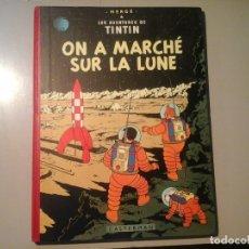 Cómics: HERGÉ. TINTIN. ON A MARCHÉ SUR LA LUNE. EDICIÓN ORIGINAL BELGA (BELGIQUE) 1954. CASTERMAN. RARO.. Lote 136270870
