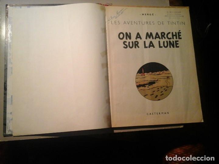 Cómics: HERGÉ. TINTIN. ON A MARCHÉ SUR LA LUNE. EDICIÓN ORIGINAL BELGA (BELGIQUE) 1954. CASTERMAN. RARO. - Foto 3 - 136270870