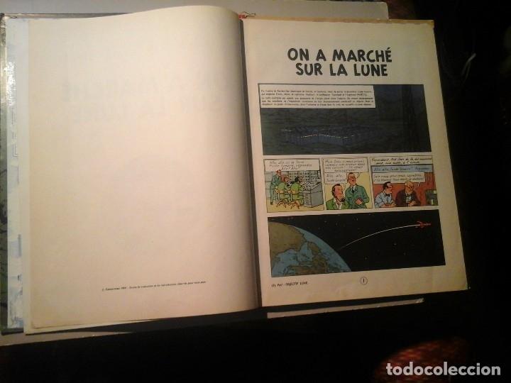 Cómics: HERGÉ. TINTIN. ON A MARCHÉ SUR LA LUNE. EDICIÓN ORIGINAL BELGA (BELGIQUE) 1954. CASTERMAN. RARO. - Foto 4 - 136270870
