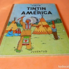 Cómics: TINTIN- TINTIN EN AMERICA- 3ª EDICION - HERGE-EDITORIAL JUVENTUD - LOMO DE TELA. Lote 136352434