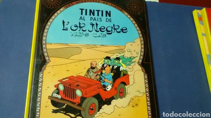 TINTIN AL PAÍS DE L' OR NEGRE . HERGÉ .ED JOVENTUD . EN CATALÁN (Tebeos y Comics - Juventud - Tintín)