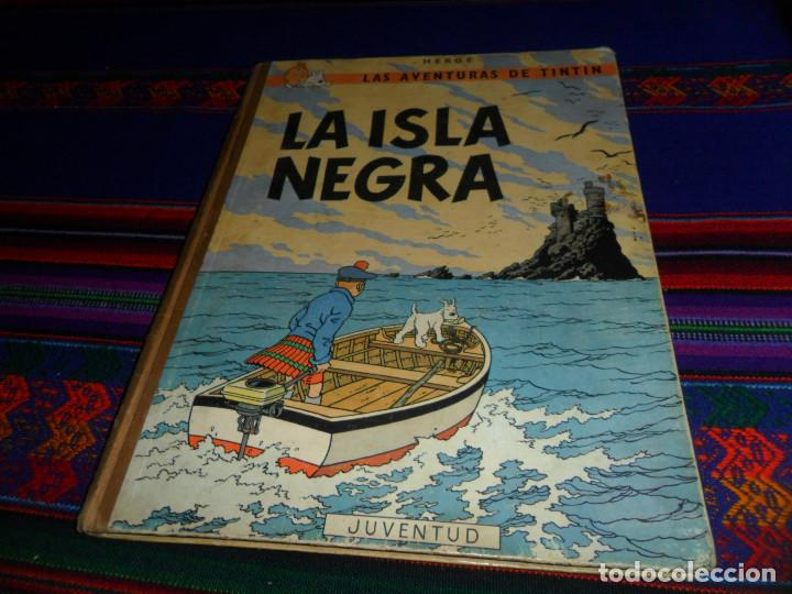 TINTIN LA ISLA NEGRA 2ª SEGUNDA EDICIÓN 1ª PRIMERA EDICIÓN REVISADA. JUVENTUD 1967. (Tebeos y Comics - Juventud - Tintín)