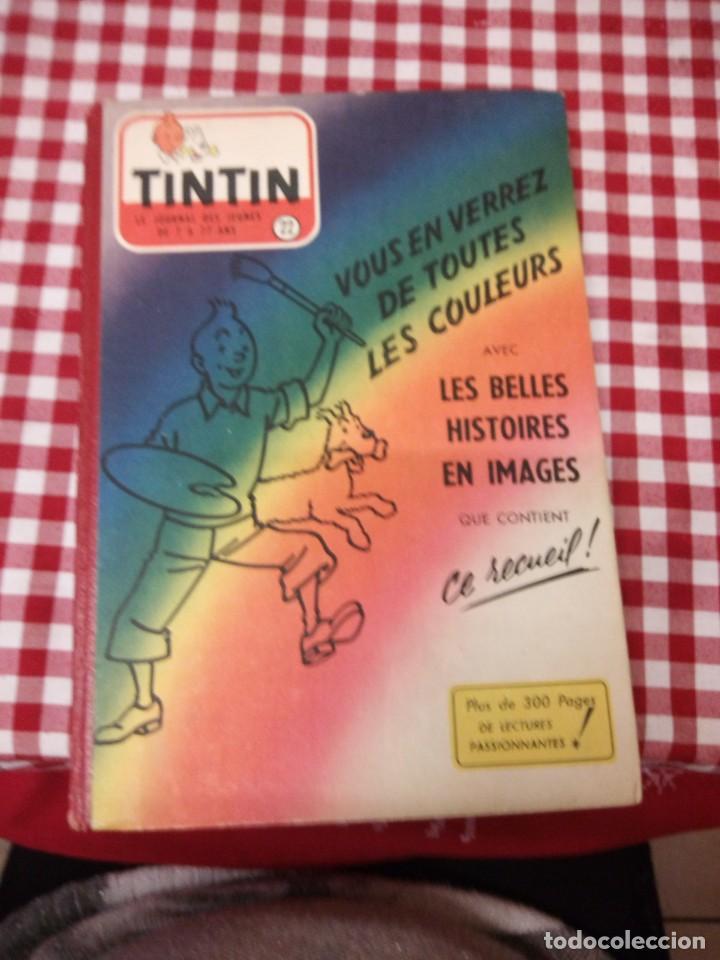 TINTÍN LE JOURNAL DESDE JEUNES N 22.VOUS EN VERREZ DE TOUTES LES COULEURS 1954. MÁS DE 300 PÁGINAS. (Tebeos y Comics - Juventud - Tintín)