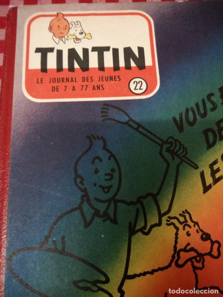 Cómics: Tintín le journal desde jeunes n 22.vous en verrez de toutes les couleurs 1954. Más de 300 páginas. - Foto 2 - 138680722