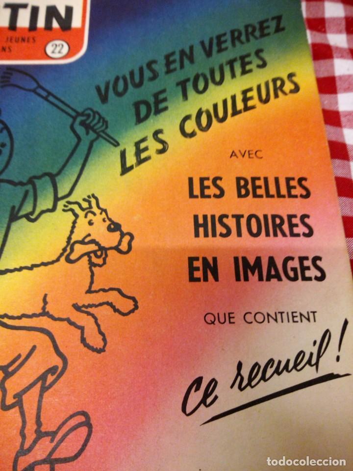 Cómics: Tintín le journal desde jeunes n 22.vous en verrez de toutes les couleurs 1954. Más de 300 páginas. - Foto 3 - 138680722