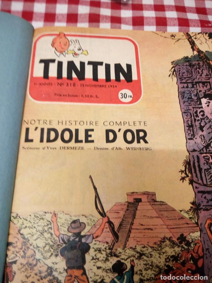 Cómics: Tintín le journal desde jeunes n 22.vous en verrez de toutes les couleurs 1954. Más de 300 páginas. - Foto 6 - 138680722
