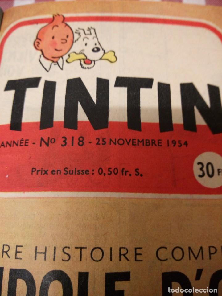 Cómics: Tintín le journal desde jeunes n 22.vous en verrez de toutes les couleurs 1954. Más de 300 páginas. - Foto 7 - 138680722