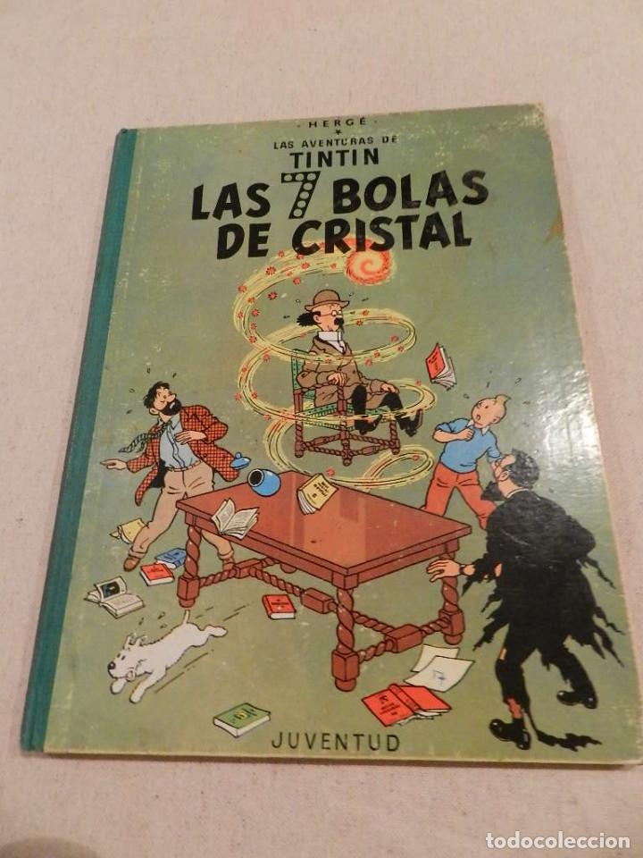 TINTIN .- HERGÈ - EDITORIAL JUVENTUD - LAS 7 BOLAS DE CRISTAL - SEGUNDA EDICIÓN 1967 (Tebeos y Comics - Juventud - Tintín)