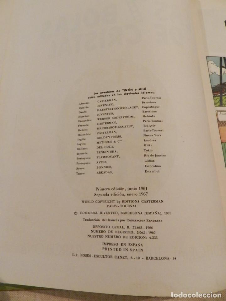 Cómics: TINTIN .- HERGÈ - EDITORIAL JUVENTUD - LAS 7 BOLAS DE CRISTAL - SEGUNDA EDICIÓN 1967 - Foto 2 - 138916866