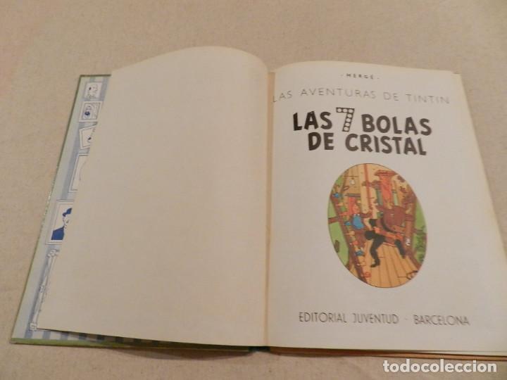 Cómics: TINTIN .- HERGÈ - EDITORIAL JUVENTUD - LAS 7 BOLAS DE CRISTAL - SEGUNDA EDICIÓN 1967 - Foto 4 - 138916866