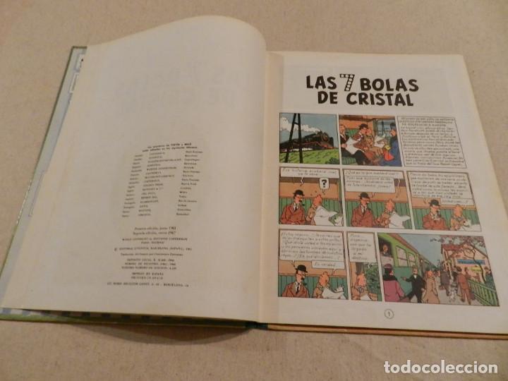 Cómics: TINTIN .- HERGÈ - EDITORIAL JUVENTUD - LAS 7 BOLAS DE CRISTAL - SEGUNDA EDICIÓN 1967 - Foto 5 - 138916866