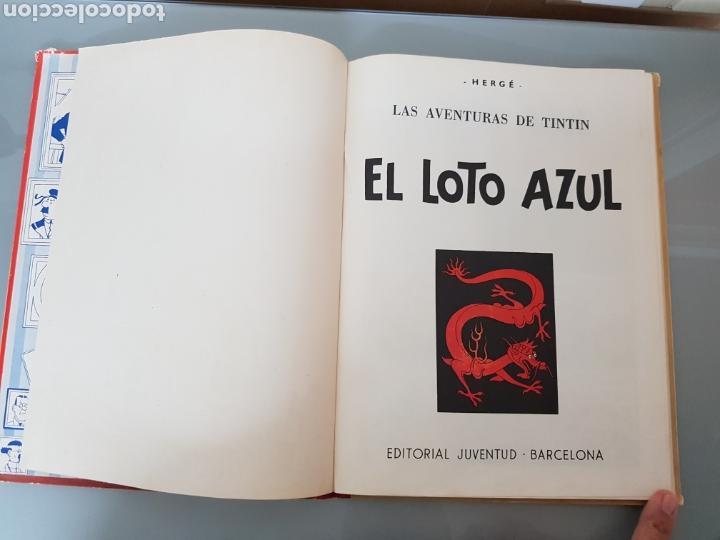 Cómics: TINTIN EL LOTO AZUL 3a EDICION 1970 LIMPIO - Foto 6 - 139184421