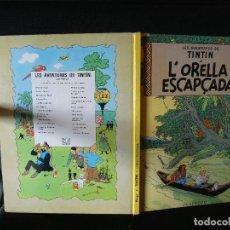 Cómics: AVENTURAS DE TINTIN QUARTA EDICIO EN CATALA 1979 LA ORELLA ESCAPÇADA 1979. Lote 139277934