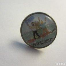 Cómics: PIN TINTIN . 2 CM DE DIAMETRO STOCK DE COQUE (EN FRANCES). Lote 139685514