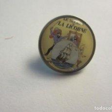 Cómics: PIN TINTIN, 2 CM DE DIAMETRO. EL SECRETO DEL UNICORNIO (EN FRANCES). NUEVO. Lote 139685542