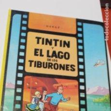 Cómics: TINTIN Y EL LAGO DE LOS TIBURONES, HERGÉ,1988, EDITORIAL JUVENTUD. Lote 141486686