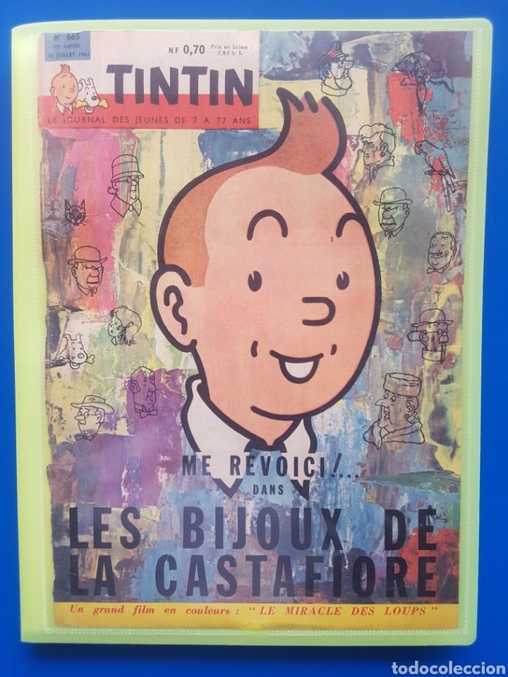 Cómics: LAS JOYAS DE LA CASTAFIORE (LES BIJOUX DE LA CASTAFIORE) Journal TINTIN 1961/1962-Anterior 1 edición - Foto 3 - 141827470