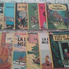 Cómics: LOTE 12 EJEMPLARES TINTIN, DE HERGE (ENCUADERNACION RUSTICA, TAPA BLANDA)(VER RELACION)(TB SUELTOS). Lote 142298486