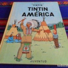 Cómics: TINTIN EN AMÉRICA 10ª DÉCIMA EDICIÓN CON LOMO DE TELA. JUVENTUD 1987. DIFÍCIL.. Lote 142496582
