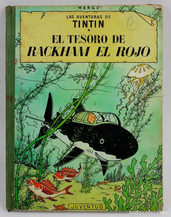 LAS AVENTURAS DE TINTIN, EL TESORO DE BACKHAM EL ROJO, 1967, EDITORIAL JUVENTUD, HERGÉ, BARCELONA. (Tebeos y Comics - Juventud - Tintín)