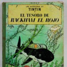 Cómics: LAS AVENTURAS DE TINTIN, EL TESORO DE BACKHAM EL ROJO, 1967, EDITORIAL JUVENTUD, HERGÉ, BARCELONA.. Lote 142668678