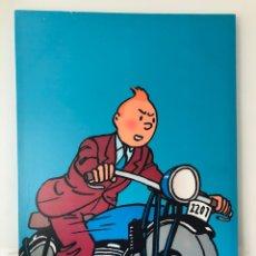 Cómics: TINTIN MOTOCICLETA CUADRO. Lote 142965488