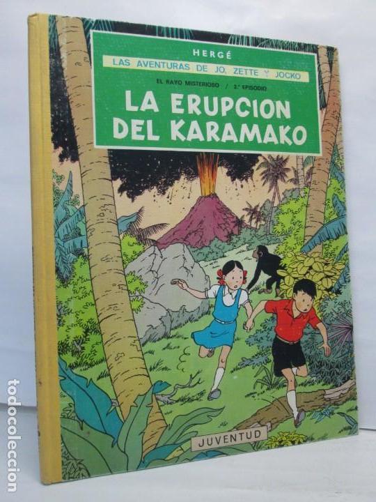 LAS AVENTURAS DE JO, ZETTE Y JOCKO. LA ERUPCION DEL KARAMAKO. ED. JUVENTUD. 1 EDICION 1971 (Tebeos y Comics - Juventud - Otros)