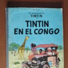 Cómics: LAS AVENTURAS DE TINTIN * EN EL CONGO * 1º EDICION 1968 *. Lote 143873954
