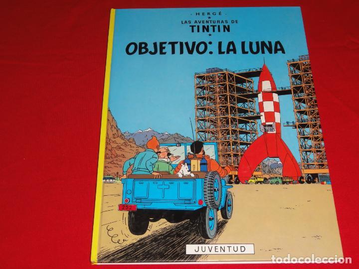 TINTIN. OBJETIVO: LA LUNA. EDITORIAL JUVENTUD.TAPA DURA C-30 (Tebeos y Comics - Juventud - Tintín)