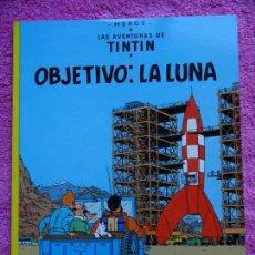 Cómics: LAS AVENTURAS DE TINTIN OBJETIVO LA LUNA JUVENTUD 2004 HERGÉ EDICIÓN 21ª. Lote 147039342