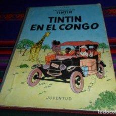 Cómics: TINTIN EN EL CONGO. JUVENTUD 1ª PRIMERA EDICIÓN. JUVENTUD 1968. . Lote 147480898