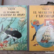Cómics: LAS AVENTURAS DE TINTIN - LOMO DE TELA - EL TESORO DE RACKHAM Y EL SECRETO DEL UNICORNIO - HERGE . Lote 147510858