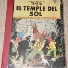 Cómics: LAS AVENTURAS DE TINTIN 1ª EDICIÓN, EN CATALAN EL TEMPLE DEL SOL. Lote 147540050