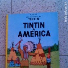 Cómics: LIBRO TINTIN A AMERICA EN CATALAN AÑO 1990 TAPA DURA. Lote 148205822