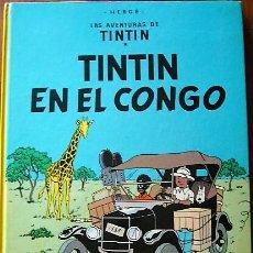 Cómics: 3 COMIC TINTIN EDICIÓN 1976 - TINTIN EN EL CONGO - ATERRIZAJE EN LA LUNA - EN EL PAÍS DEL ORO NEGRO. Lote 148338058