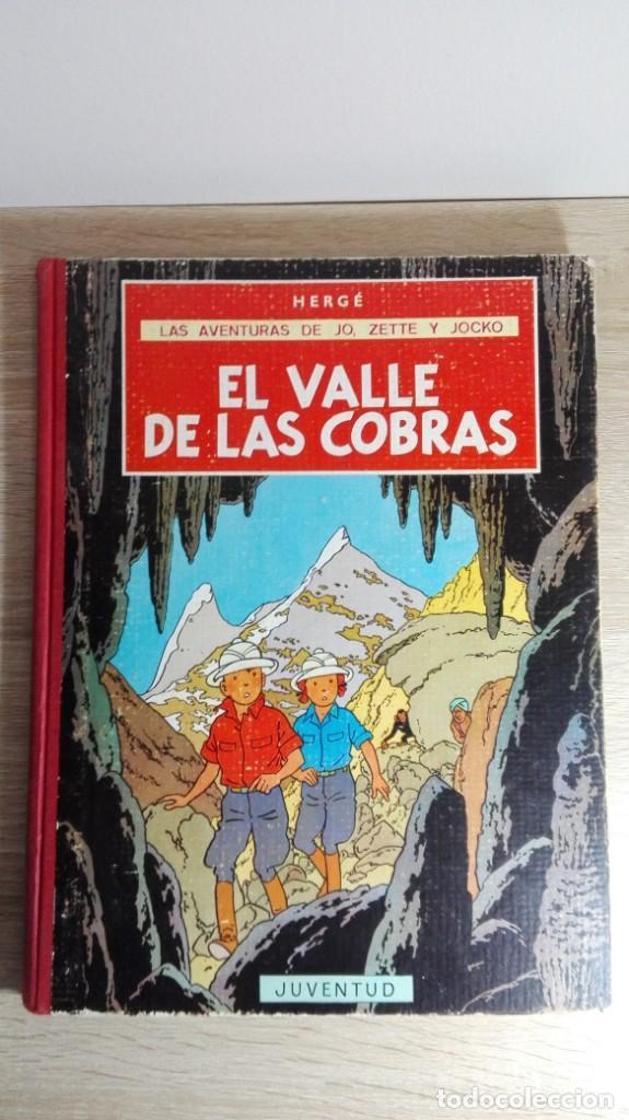 EL VALLE DE LAS COBRAS-LAS AVENTURAS DE JO,ZETTE Y JOCKO-HERGÉ-1ª EDICIÓN-AÑO 1972. (Tebeos y Comics - Juventud - Otros)