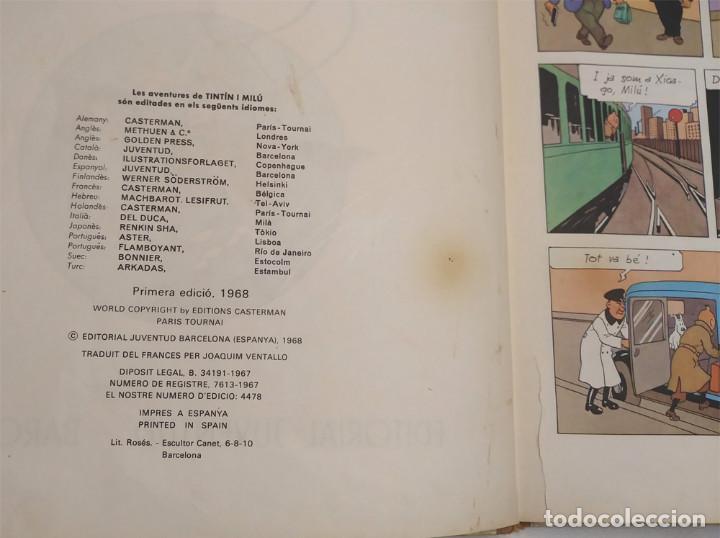 Cómics: Tintin En America 1era edición lomo de Tela any 1968, en catalan - Foto 2 - 150183058