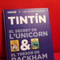 Cómics: TINTÍN.EL SECRET DE ĽUNICORN & EL TRESOR DE RACKHAM EL ROIG.1° EDICIÓ.CATALÀ. Lote 150670554