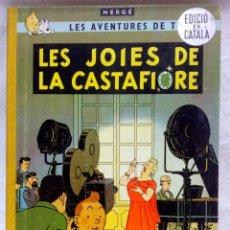Cómics: LES AVENTURES DE TINTÍN. HERGÉ. LES JOIES DE LA CASTAFIORE. EN CATALÀ, ED. JUVENTUD.REIMPRESSIÓ 1965. Lote 152144930