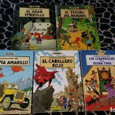 Cómics: LAS AVENTURAS DE OSCAR Y JULIAN POR BOB DE MOOR 5 COMICS COLECCION COMPLETA ED JUNIOR 1988. Lote 152386518