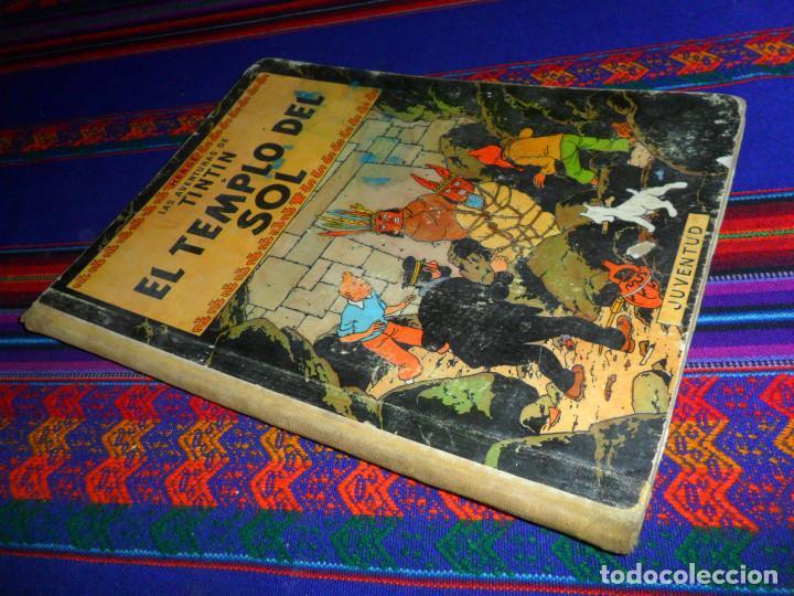 TINTIN EL TEMPLO DEL SOL, 1ª PRIMERA EDICIÓN. JUVENTUD 1961. DIFÍCIL. (Tebeos y Comics - Juventud - Tintín)