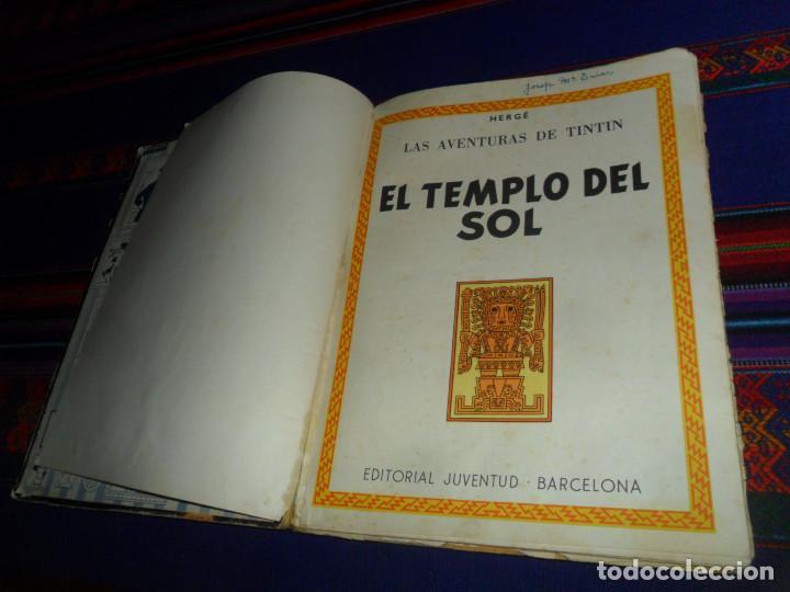 Cómics: TINTIN EL TEMPLO DEL SOL, 1ª PRIMERA EDICIÓN. JUVENTUD 1961. DIFÍCIL. - Foto 2 - 152874458