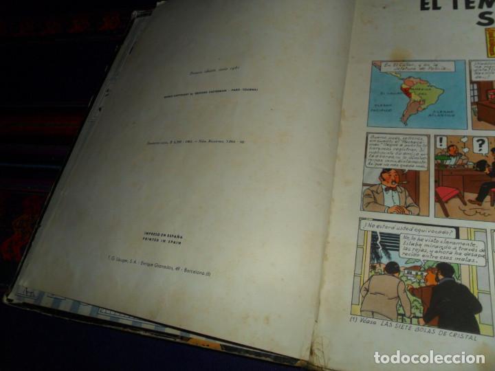 Cómics: TINTIN EL TEMPLO DEL SOL, 1ª PRIMERA EDICIÓN. JUVENTUD 1961. DIFÍCIL. - Foto 3 - 152874458